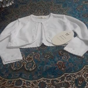 Toddler white sweater 2T